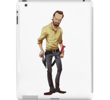 The Walking Dead Rick Cartoon iPad Case/Skin