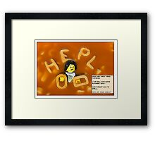 Alphabet Soup. Framed Print