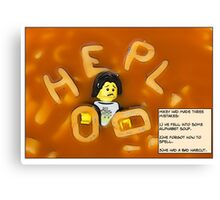 Alphabet Soup. Canvas Print