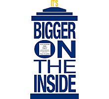 It's Bigger on the Inside - Tardis Photographic Print