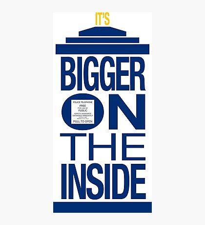 It's Bigger on the Inside - Tardis Photographic Print