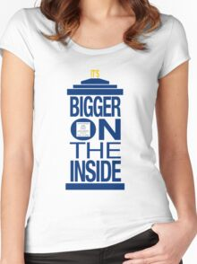 It's Bigger on the Inside - Tardis Women's Fitted Scoop T-Shirt