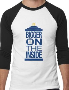 It's Bigger on the Inside - Tardis Men's Baseball ¾ T-Shirt