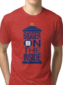 It's Bigger on the Inside - Tardis Tri-blend T-Shirt