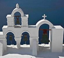 Church Bells of Oia by phil decocco