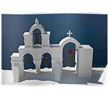 Church Bells of Oia Poster