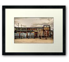 Joshua tree Saloon in California Framed Print