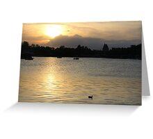 Epcot Lake Greeting Card
