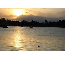 Epcot Lake Photographic Print