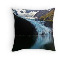 Alaska College Fjord Throw Pillow