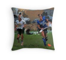 091611 139 0 p & ink field hockey Throw Pillow