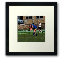 091611 160 1 comic book field hockey Framed Print