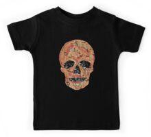 Splatter Skull - Orange Kids Tee