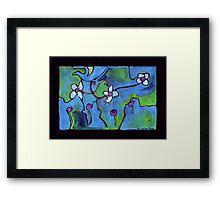 Midnight Garden cycle7 14 Framed Print