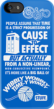 Time-y Wimey iPhone Case by Tom Trager