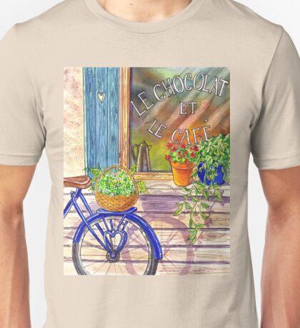 Vintage Window Le Cafe Unisex T-Shirt