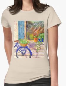 Vintage Window Le Cafe Womens Fitted T-Shirt