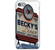 Becky's Diner iPhone Case/Skin