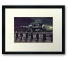 Steaming on By Framed Print