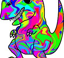 Colorful Dinosaur by ChrisButler