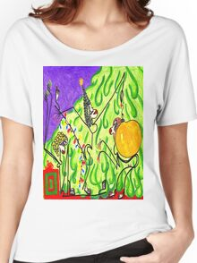 The gals decorate the tree Women's Relaxed Fit T-Shirt
