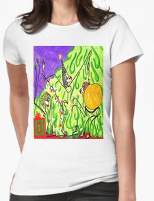 The gals decorate the tree Womens Fitted T-Shirt