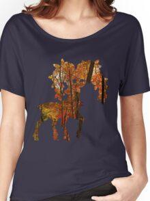 Sawsbuck (autumn) used horn leech Women's Relaxed Fit T-Shirt
