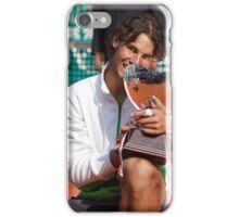 Rafa Nadal biting his 7th consecutive Monte-Carlo trophy iPhone Case/Skin