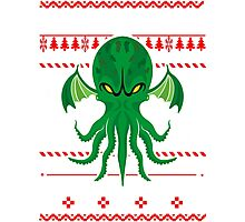 Cthulhu Ugly Christmas Sweater Photographic Print