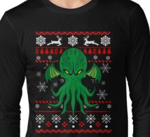Cthulhu Ugly Christmas Sweater Long Sleeve T-Shirt