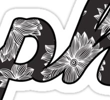 Alpha Phi Flowers Sticker