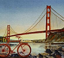 Bicycle In San Francisco by Irina Sztukowski