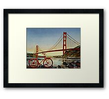 Bicycle In San Francisco Framed Print