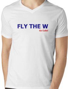 Fly the W (Go Cubs!) Mens V-Neck T-Shirt