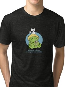 with great cuteness..... Tri-blend T-Shirt