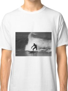 Surfer in Black And White Classic T-Shirt