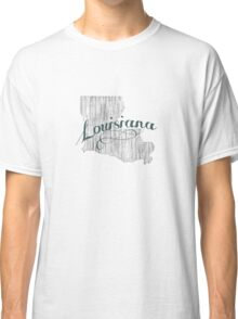 Louisiana State Typography Classic T-Shirt