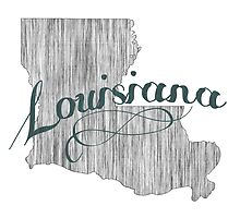 Louisiana State Typography by surgedesigns