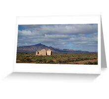 house ruins flinders rangers Greeting Card