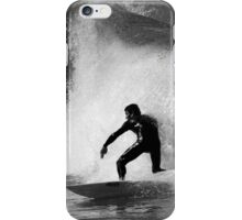 Surfer in Black And White iPhone Case/Skin