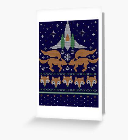Foxy Threads Greeting Card