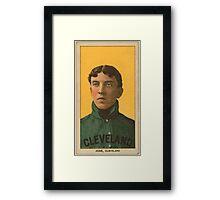 Benjamin K Edwards Collection Addie Joss Cleveland Naps baseball card portrait 001 Framed Print