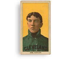Benjamin K Edwards Collection Addie Joss Cleveland Naps baseball card portrait 001 Canvas Print