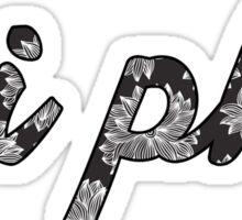 Pi Beta Phi Sorority Flowers Sticker