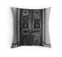 The Mausoleum Door Throw Pillow