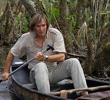 Austin Stevens canoeing through Florida Everglades by Austin Stevens