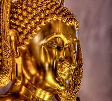 Golden Buddha -- Wat Buddharangsi, Miami, Florida by Bill Wetmore