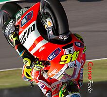 Rossi in Mugello iPhone Case by corsefoto