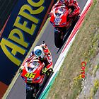 Rossi and Hayden in Mugello iPhone case by corsefoto