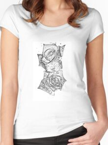 Two roses after rain Women's Fitted Scoop T-Shirt